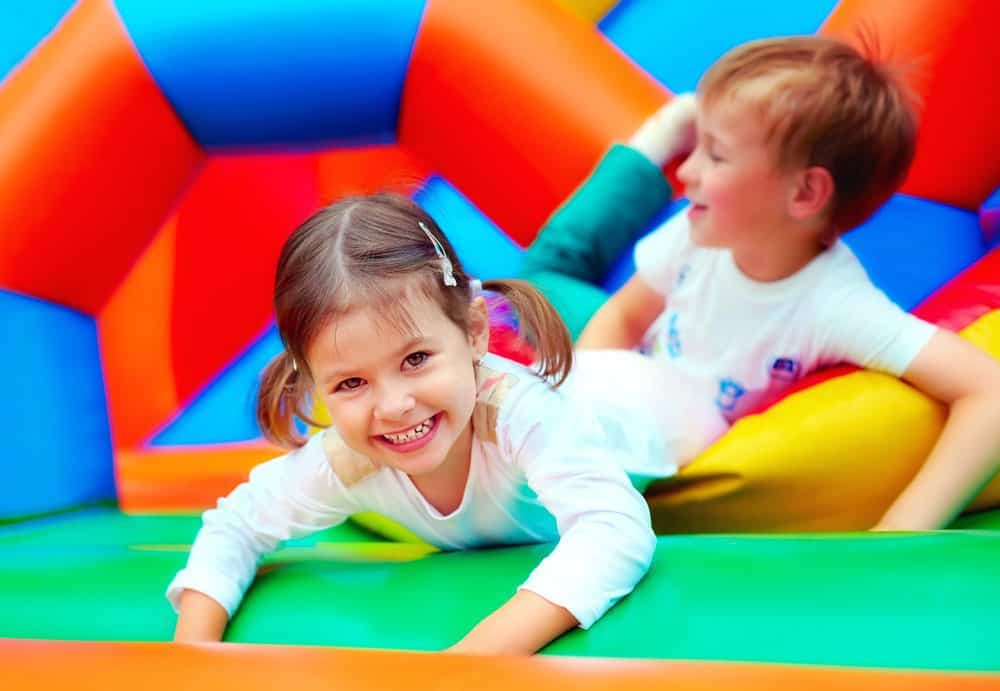 Jump and Play children on bouncy castle Contact us