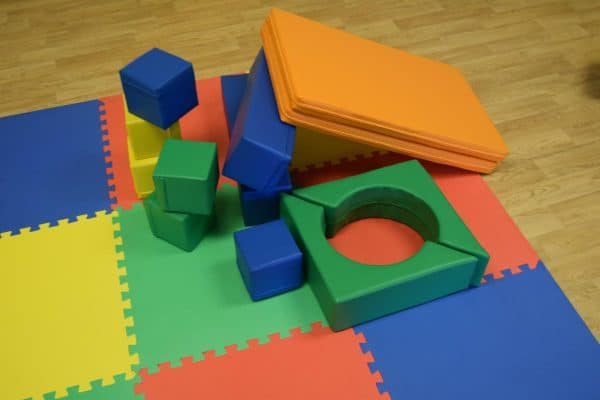 Jump and Play Soft Play shapes Play House 1 Soft Play brick house