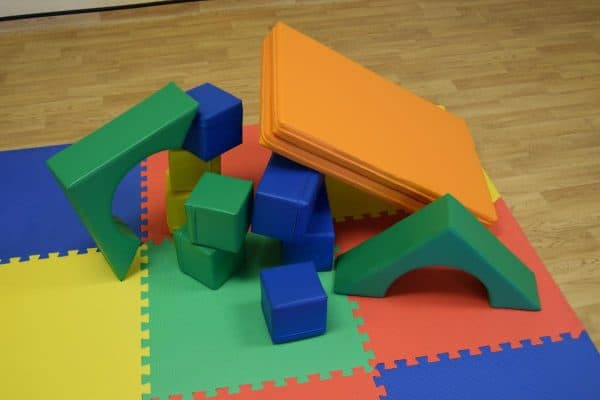 Jump and Play Soft Play shapes Play House 9 Soft Play brick house