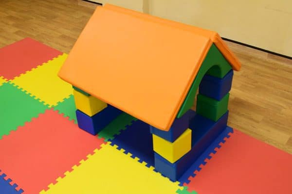 Jump and Play Soft play shape house 2 Soft Play brick house