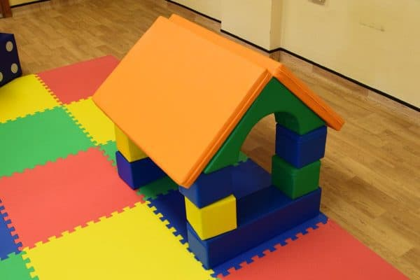 Jump and Play Soft play shape house 5 Soft Play brick house