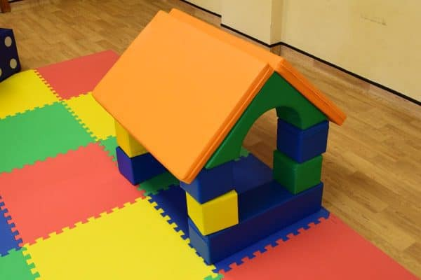 Jump and Play Soft play shape house 6 Soft Play brick house