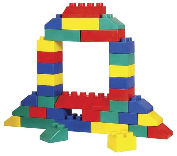 Jump and Play building block hire 2 Giant Building Blocks