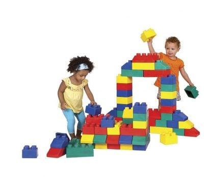 Large rubber brick building
