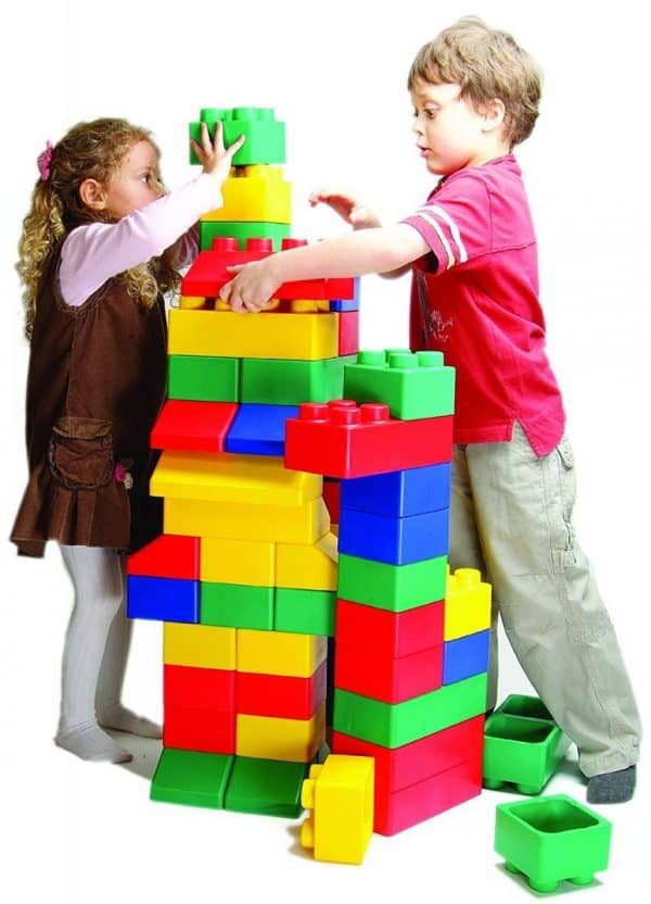 Jump and Play building block parrty hire Giant Building Blocks