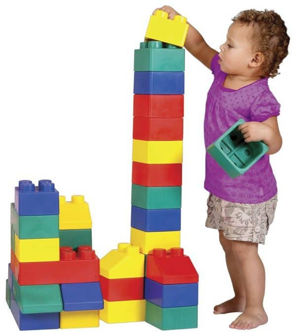 Jump and Play building block party hire 1 Giant Building Blocks