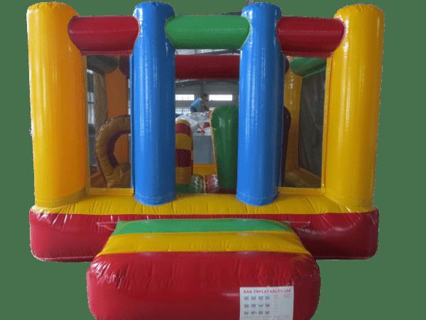 Jump and Play rainbow bouncy castle Enormous Soft Play Party & Rainbow Bouncy Castle