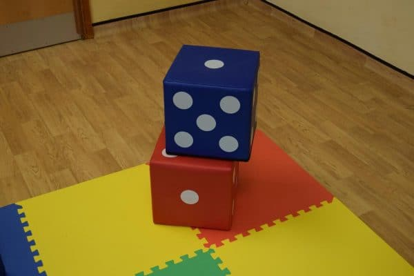 Jump and Play 2 soft play lucky dice 1 Giant Lucky Dice
