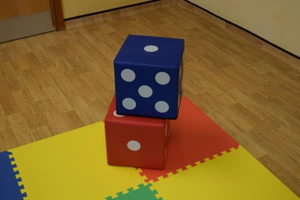 Jump and Play 2 soft play lucky dice 2 Giant Lucky Dice