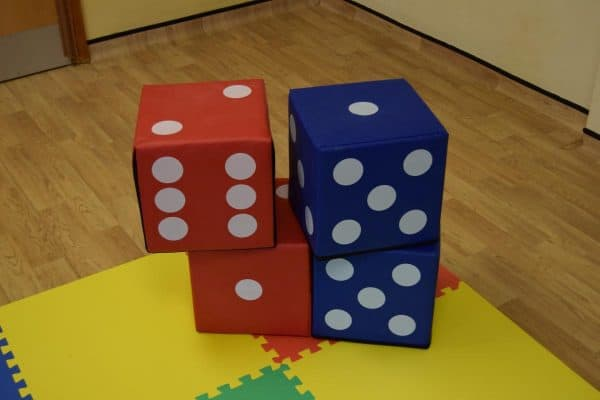 Jump and Play 4 soft play lucky dice 1 Giant Lucky Dice