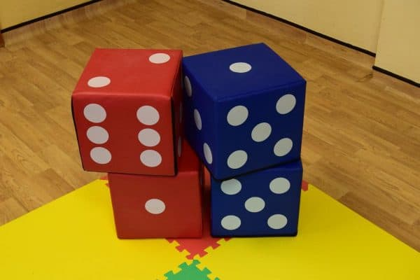 Jump and Play 4 soft play lucky dice 3 Giant Lucky Dice