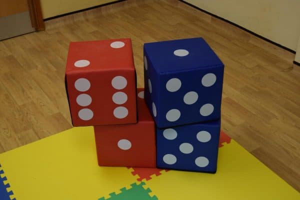 Jump and Play 4 soft play lucky dice 4 Giant Lucky Dice