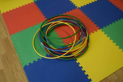 multi coloroured hula hoops