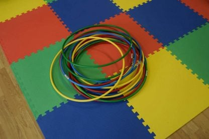 multi coloroured hula hoops to hire