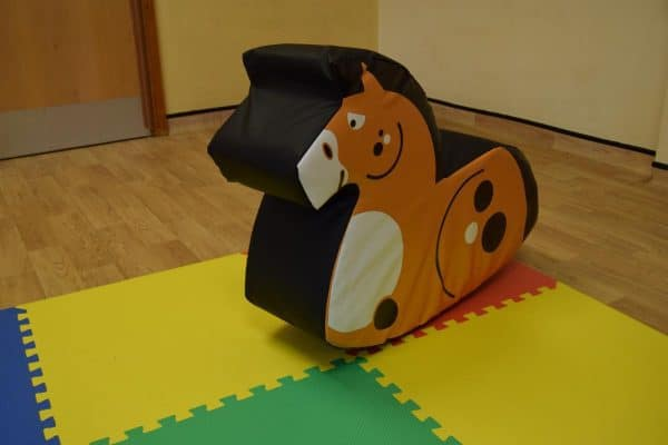 Jump and Play Soft Play Chestnut Rocking Horse 1 Soft Play Rocking Horse