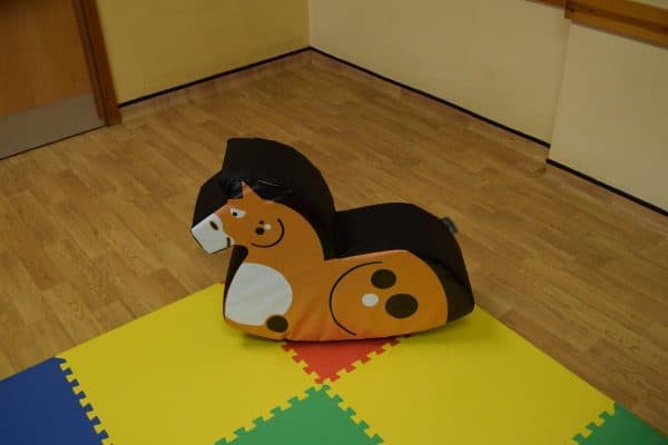 Jump and Play Soft Play Chestnut Rocking Horse 3 Soft Play Rocking Horse