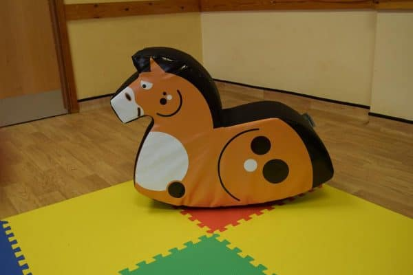 Jump and Play Soft Play Chestnut Rocking Horse 4 Enormous Soft Play Party & Dinosaur Bouncy Castle