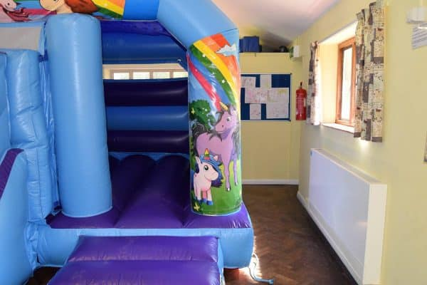 Jump and Play Cute unicorn bouncy castle Unicorn Bouncy Castle with Front Slide
