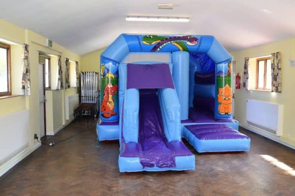 Jump and Play Dinosaur Bouncy Castle Dinosaur Bouncy Castle with Front Slide