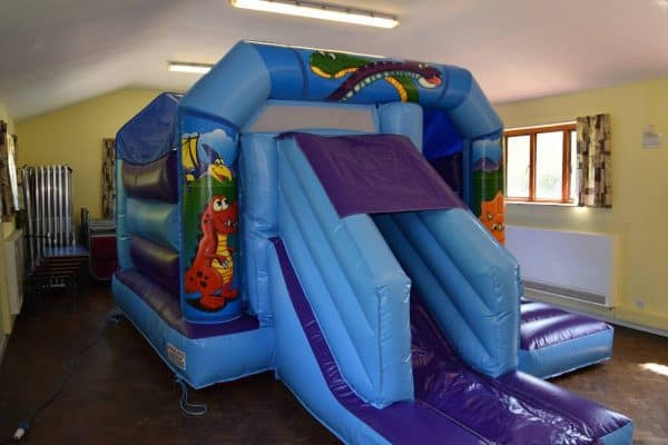 Jump and Play Dinosaur inflatable slide Enormous Soft Play Party & Dinosaur Bouncy Castle