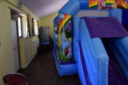 Unicorn Bouncy Castle with slide
