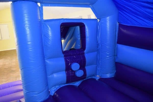 Jump and Play bouncy castle slide steps 1 Dinosaur Bouncy Castle with Front Slide