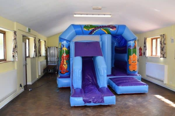 Jump and Play low height dinosaur bouncy castle Dinosaur Bouncy Castle with Front Slide