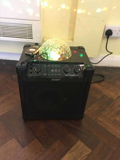 Bluetooth Party Speaker with disco lights and microphone