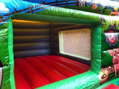 Low height farmyard bouncy castle